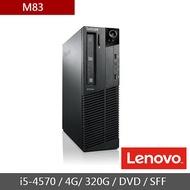 [二手機] Lenovo M83 (I5-4570(3.2G)/4G/320G/DVD/W10/SFF)