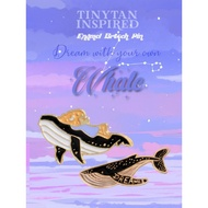 S.A.S TINYTAN WHALE INSPIRED (Enamel Brooch Pin)