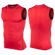 บุรุษออกกำลังกายแขนกุด rashguard เสื้อยืดเพาะกายผิวแห้งเร็วท็อปส์จัดส่งฟรี