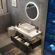 浴鏡 北歐浴室櫃組合現代簡約大理石洗臉洗手衛生間盆櫃洗漱臺鏡櫃 全館免運