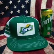 Cap vintage Sprite cap trucker ! Topi Sprite snapback tag made in usa