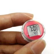 精品車載迷你電子鐘錶 車載時鐘 汽車電子表車用濕度計 迷你裝飾表