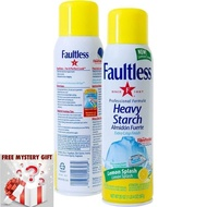 [Shop Malaysia] Faultless Ironing Heavy Starch Spray Lemon Scent Easy On Iron Starch Spray From USA  + Free Mystery Gift 🎊