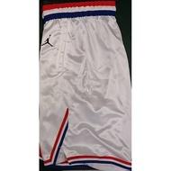 2019 一月 JORDAN NBA ASG SHORT 明星賽 運動 短褲 球褲 白紅藍 AQ7300-100