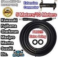 PRESSURE WASHER HOSE for Kawasaki HPW 302 /HPW 220 /HPW502 /HPB302 /Fujihama HPW 201 /FJB 302 /Maxipro MX301 /MX202 /Shark /Mantra /Suzuki SPW303 Pressure Washer High Pressure hose 10 meters / 5 meters with extension connector