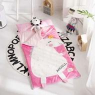 ✦愛美家✦ins多功能童防踢被 秋冬加厚寶寶絨大童睡袋嬰兒抱被枕頭可拆洗