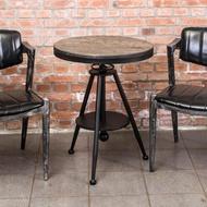 【BODEN】布蘭頓工業風實木升降小茶几/邊桌/吧台桌
