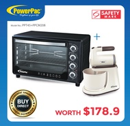 [Bundle set] PowerPac 45L Electric Oven + Hand / Stand Mixer With Bowl (PPT45+PPSM208)