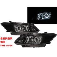 卡嗶車燈 TOYOTA 豐田 VIOS XP150 2016-Present 光導LED天使眼光圈魚眼 大燈