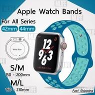 สายนาฬิกา Apple Watch ซีรีย์ 1 2 3 4 5 6 SE (42 mm 44mm) สาย นาฬิกา Nike - สายนาฬิกา Replacement Silicone Nike Sport Band for Series 1 2 3 42 mm ซีรีย์ 4 5 6 SE 44mm