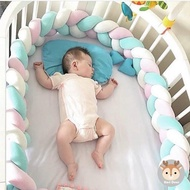 【Kori Deer 可莉鹿】北歐風編織長條多用途安撫枕床圍嬰兒防撞圍欄(抱枕沙發枕創意兒童嬰兒房裝飾)