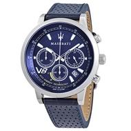 MASERATI WATCH瑪莎拉蒂手錶 R8871134002 2018年新款光動能 時尚三眼計時 真皮錶帶 錶現精品