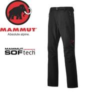 【MAMMUT SOFtech TREKKERS Pants 男長褲《黑》】1020-09760-0001/長毛象/快乾軟殼/運動褲