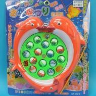磁鐵電動釣魚組 ST-029 海豚造型 釣魚遊戲(附電池)/一個入{促250} 電動旋轉釣魚盤~生129