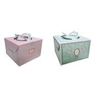 *愛焙烘焙* 6吋 布丁蛋糕盒_卡莎兒 可麗兒 2組入 手提蛋糕盒 西點盒 禮盒 包裝盒 紙盒 翻糖 點心