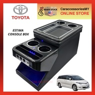 Universal / Toyota Estima WITH LED Light BLUE UBS Charger Arm Rest Console Box (Black Color) ACR50  ACR30 accessories estima interior accessories