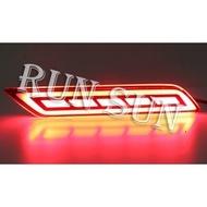 ●○RUN SUN 車燈,車材○● 全新 本田 2017 CITY LED光柱 方塊 全紅雙功能 後保燈 後保桿燈