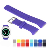 For Samsung Gear S2 SM-R720/R730 Watch Replacement Band, Accessory Small/Large Size Soft Silicone Wristband Strap Smartwatch Sport Band Fit for Samsung Galaxy Gear S2 SM-720/SM-730 Smartwatch