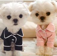 Pet Button-down French Sleepwear Dog Pajama Sleepwear and Cat Pajama Sleepwear Pet Apparel