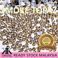 031#SMOKE TOPAZ, 💥BULK💥 HOTFIX SIGNATURE PLUS RHINESTONES, MANIK TAMPAL BAJU/TUD