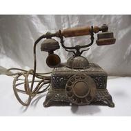 古董 轉盤式電話 撥盤電話 口水杯 (復古、文青、裝潢、懷舊)