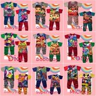 HARGA BORONG Baju Tidur Budak Murah jersey Cotton Pyjamas 3 pasang & 6 pasang