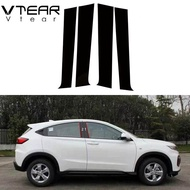 Vtear For Honda Vezel HRV XRV HR-V XR-V 2014-2019 accessories Window BC pillar sticker glossy trim cover anti-scratch mirror car-styling