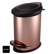 【HOLA】紐約緩降防指紋垃圾桶12L-金