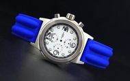168錶帶配件/20mm雙股 紋路silicone高質感OMEGA風格一次料矽膠錶帶替代原廠貨citizen,seiko