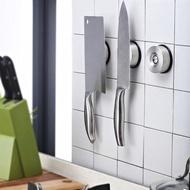 TISION菜刀架304不銹鋼刀架廚房用品壁掛磁性刀座吸鐵石