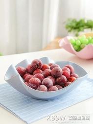 小麥稈堅果盤水果盤家用大號創意蘋果型茶幾果盤瓜子盤糖果盒盤子