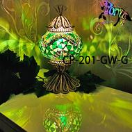 馬賽克土耳其手工銅雕燈飾 土耳其燈 小夜燈 C-pony 燈飾  燈罩直徑13cm CP-201-GW