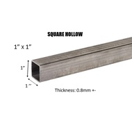 "MILD STEEL/ BESI HOLLOW  (BESI) 1"" SQUARE HOLLOW - (TEBAL 0.8MM +-)#CQ #DIY"