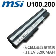 MSI 6芯 日系電芯 U100 U200 電池 BTY-S12 U90 U100 U100X U110 U115 U120 U123 U130 U135 U200 U230 BTY-S11