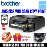 BROTHER J105 DCP-J105 WIFI PRINTER CISS Full Ink Inside (J100 CISS L3110 T310 T300 T510W L3150 G2010 G1010 HP 2135 2676