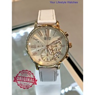 Orient Ladies Chronograph Leather Strap Watch ORCTW02003S