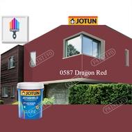 0587 Dragon Red 1L Jotun Jotashield Antifade Colours Exterior Outdoor Wall Paint Anti Algae & Anti Fungal Cat Dinding Luar Rumah Anti Alga & Anti Kulat Paintivo
