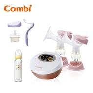 Combi 自然吸韻雙邊電動吸乳器 贈手動配件組、標準玻璃奶瓶240ml