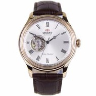 FAG00002W0 Orient Men Automatic Open Heart Dial Leather Analog Watch