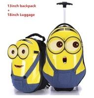 ชุดกระเป๋าเดินทางสำหรับเด็ก,ชุดกระเป๋าเป้กระเป๋าเดินทางน่ารักสำหรับเด็ก