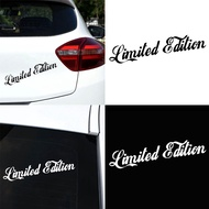 Limited Edition Letters Car-Styling Vehicle Reflective Decals Sticker Decor