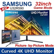 New Samsung 32inch Curved 4K UHD Monitor U32R590 Display, 65Hz, 4 (GTG) ms, Game Mode