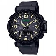 【CASIO 卡西歐】PRO TREK 登山錶系列/高度溫度氣壓方位偵測/51mm/IP黑(PRG-600Y-1D)