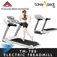 TM-788 Foldable Treadmill ★ Jogging ★ Home Gym Exercise ★ Touch Screen Monitor ★ Built-In Browser
