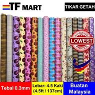 Tikar Getah Murah Alas Meja Table Cloth Plastic Alas Lantai (Floor Mat) PVC Waterproof Dinning  -TF MART