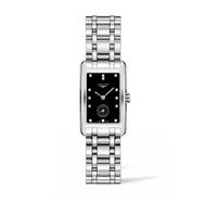 LONGINES 浪琴錶 L55124576經典新多情腕錶/黑鑽面23*37mm