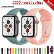 สายซิลิโคนนิ่มสำหรับApple Watch,อุปกรณ์เสริมสายนาฬิกาข้อมือขนาด38มม. สำหรับApple Watch Series 1 2 3 4 5 42มม. IWatch Band 40มม. 44มม.