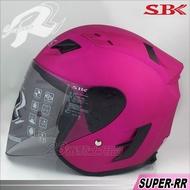 SBK R帽|23番 SBK SUPER-RR 消光桃紅 3/4罩 半罩 安全帽 雙D扣 強化耐磨 快拆鏡片 內襯可拆