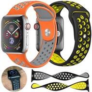 watch band strap apple sport loop soft silicone watchband for apple watch series 5 4 3 2 38mm 40mm 42mm 44mm breathable bracelet girls women men teen latest design