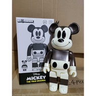Mouse Fashion Gold Bearbrick Action Figure Bearbrick Silver 400% Mickey Grey Style